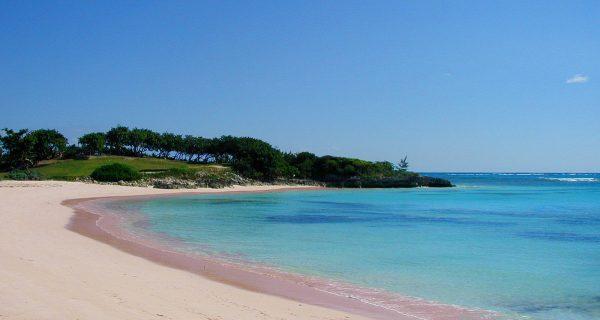 Пляж с розовым песком на Багамах, Фото holaplaya.com