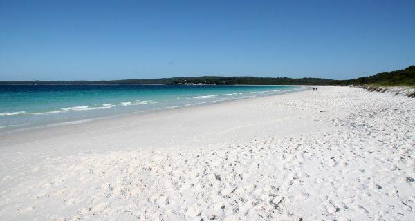 Белоснежный пляж Hyams Beach в Австралии, Фото everydaytravel.ru