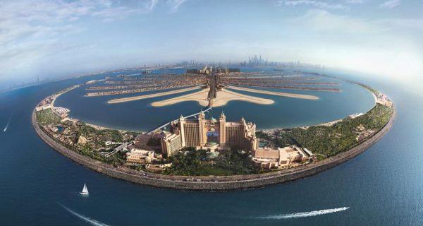 Панорамный вид на курортный отель Atlantis The Palm, Dubai, Фото wallpapers13.com