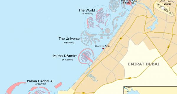 Карта островов, Дубай, Фото cibermitanios.com.ar