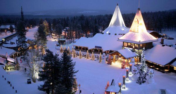 Деревня Санта Клауса в Финляндии, Фото hqwallbase.site