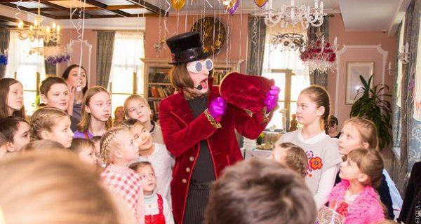 Вилли Вонка из «Шоколадной фабрики» в ресторане «Баязет», Фото bayazet.spb.ru