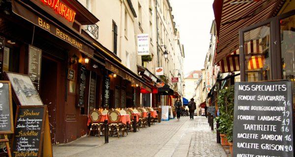 Одна из центральных улиц в Париже, Фото parisweb.ru