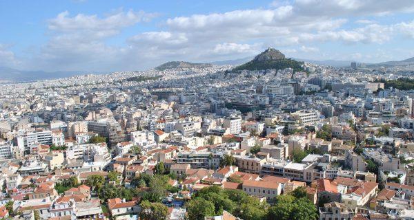 Вид с высоты Акрополя, Афины как на ладони