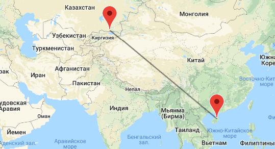 перелет Алматы - Хайнань