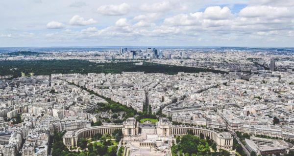 Улицы XVI округа, вид с высоты птичьего полета, Париж, Фото unsplash.com, Jace Grandinetti