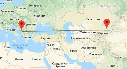 перелет Алматы - Черногория
