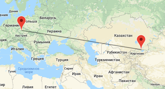 перелет Алматы - Чехия
