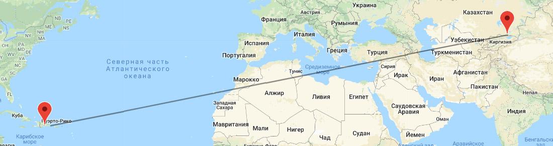 перелет Алматы - Доминикана
