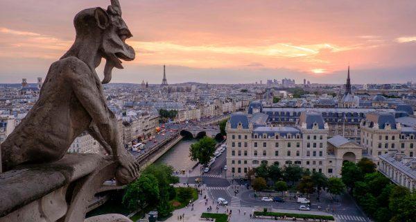 Горгульи на соборе Notre Dame de Paris, Фото unsplash.com, Pedro Lastra