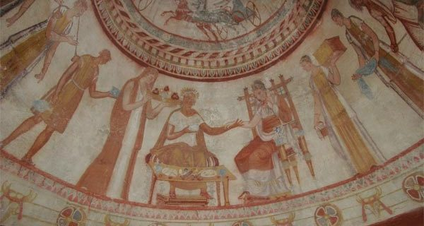 Фреска из Казанлыкской гробницы