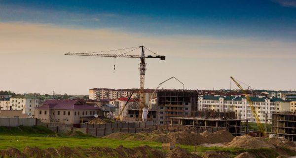 Строительство нового микрорайона в Шымкенте