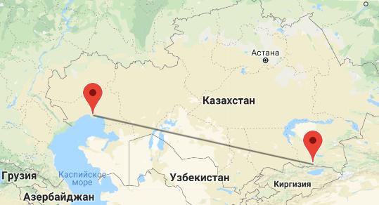 перелет Алматы - Атырау