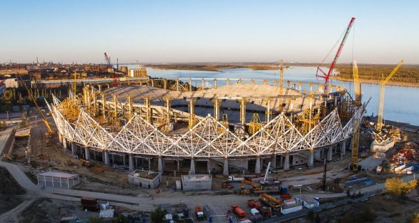 Строительство стадиона «Волгоград Арена». Фото vlg-media.ru
