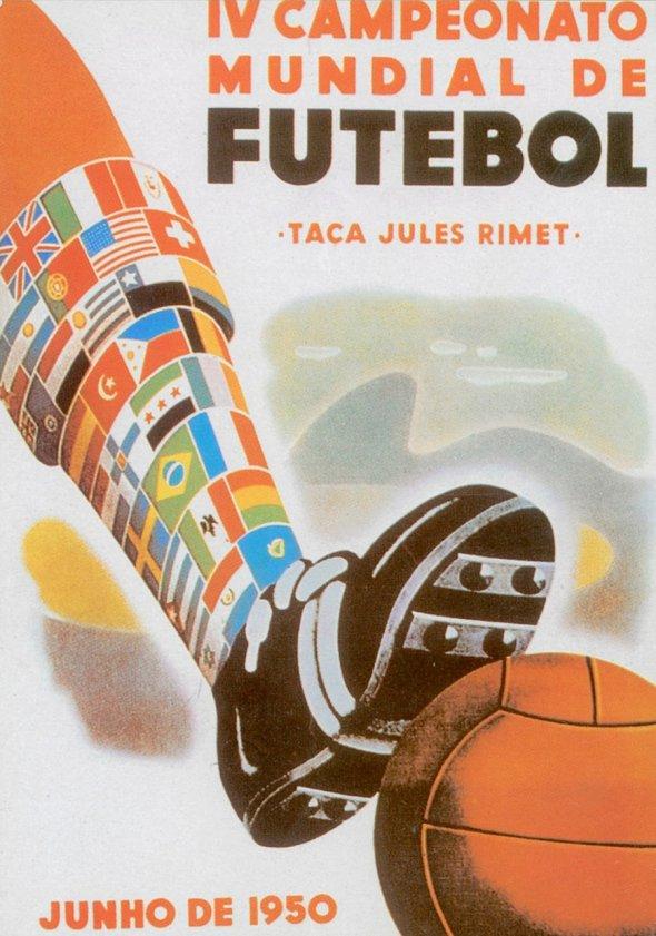 Плакат Чемпионата мира по футболу 1950 года в Бразилии, фото rbc.ru