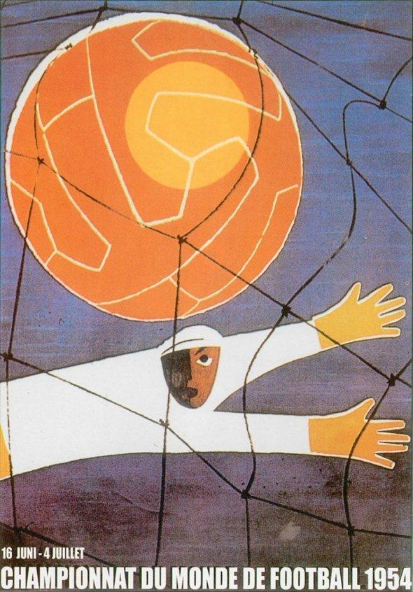 Плакат Чемпионата мира по футболу 1954 года в Швейцарии, фото rbc.ru