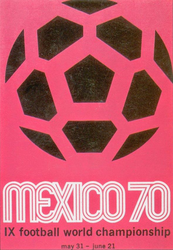 Плакат Чемпионата мира по футболу 1970 года в Мексике, фото rbc.ru
