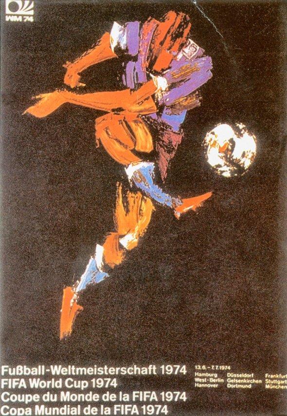 Плакат Чемпионата мира по футболу 1974 года в ФРГ, фото rbc.ru