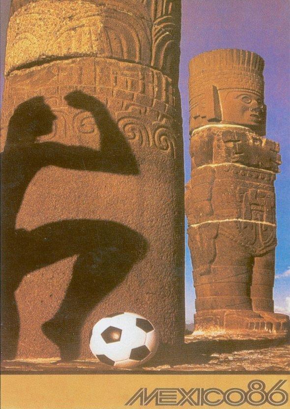 Плакат Чемпионата мира по футболу 1986 года в Мексике, фото rbc.ru