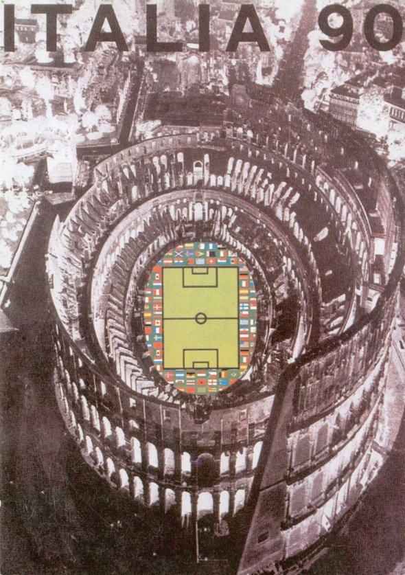 Плакат Чемпионата мира по футболу 1990 года в Италии, фото rbc.ru
