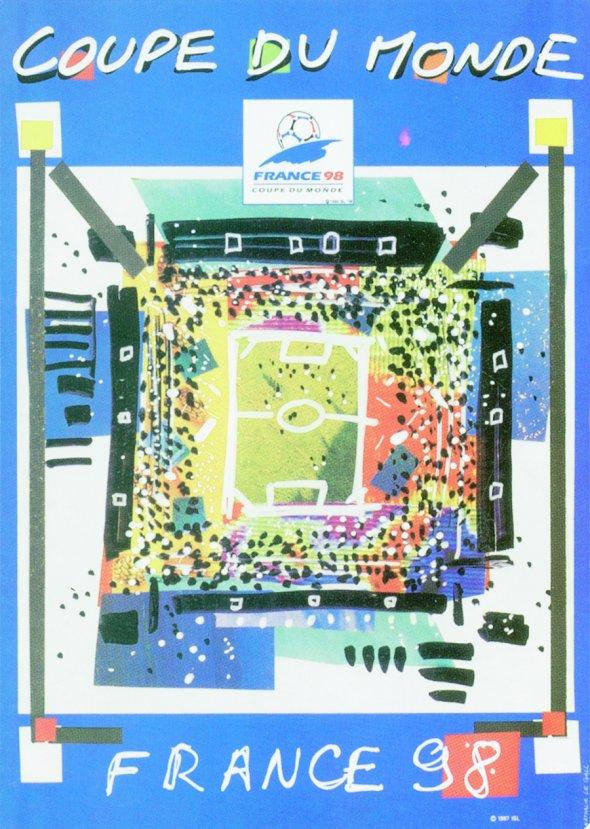 Плакат Чемпионата мира по футболу 1998 года во Франции, фото rbc.ru