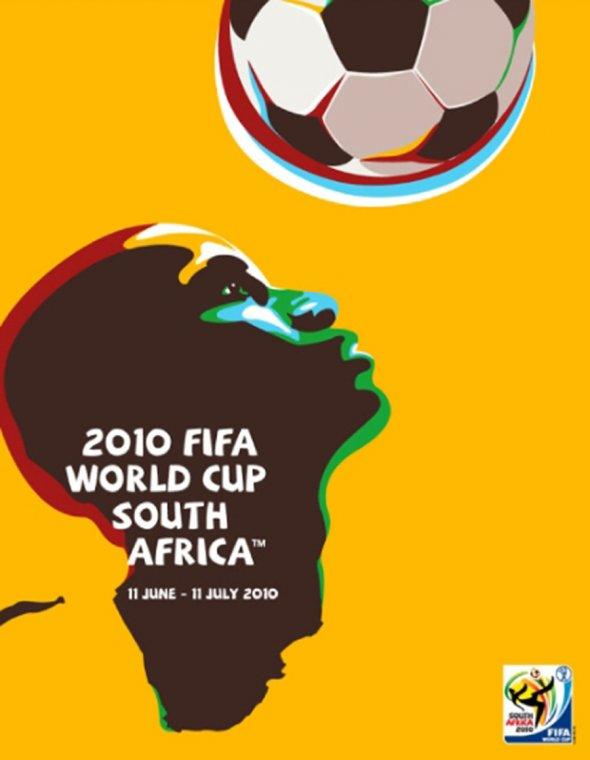 Плакат Чемпионата мира по футболу 2010 года в ЮАР, фото rbc.ru
