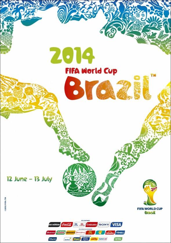 Плакат Чемпионата мира по футболу 2014 года в Бразилии, фото rbc.ru