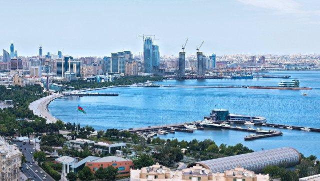 Панорама города Баку и Бакинской бухты
