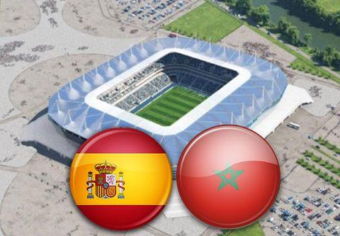 Матч Испания - Марокко