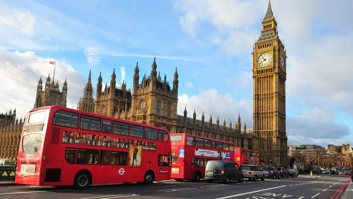 Лондон, автобус дабл-декер и Биг-Бен