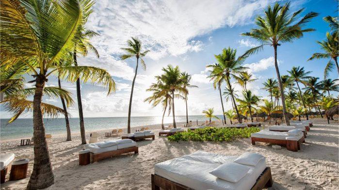 Пляж пятизвездочного отеля в Доминикане