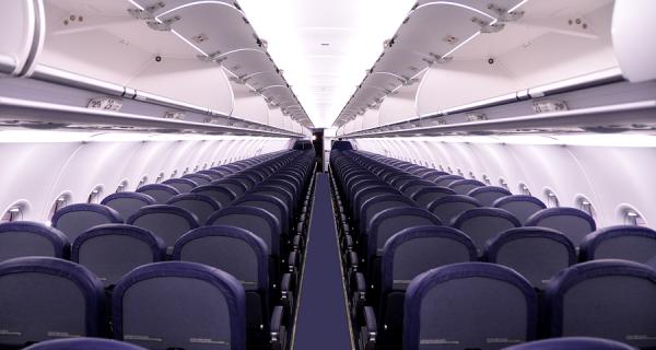 Места эконом-класса в салоне Airbus A320