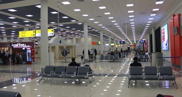 Зал терминала Шереметьево