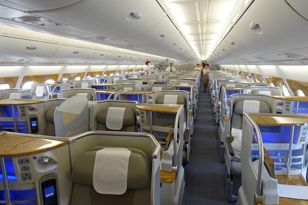 Места эконом-класса в салоне Аэробас A380