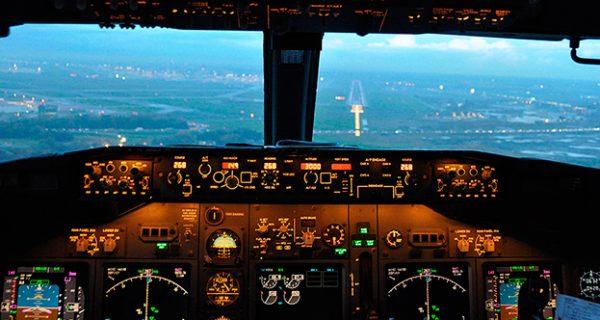 Вид из кабины Boeing 737