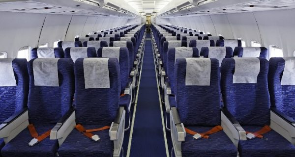 В салоне Boeing 757